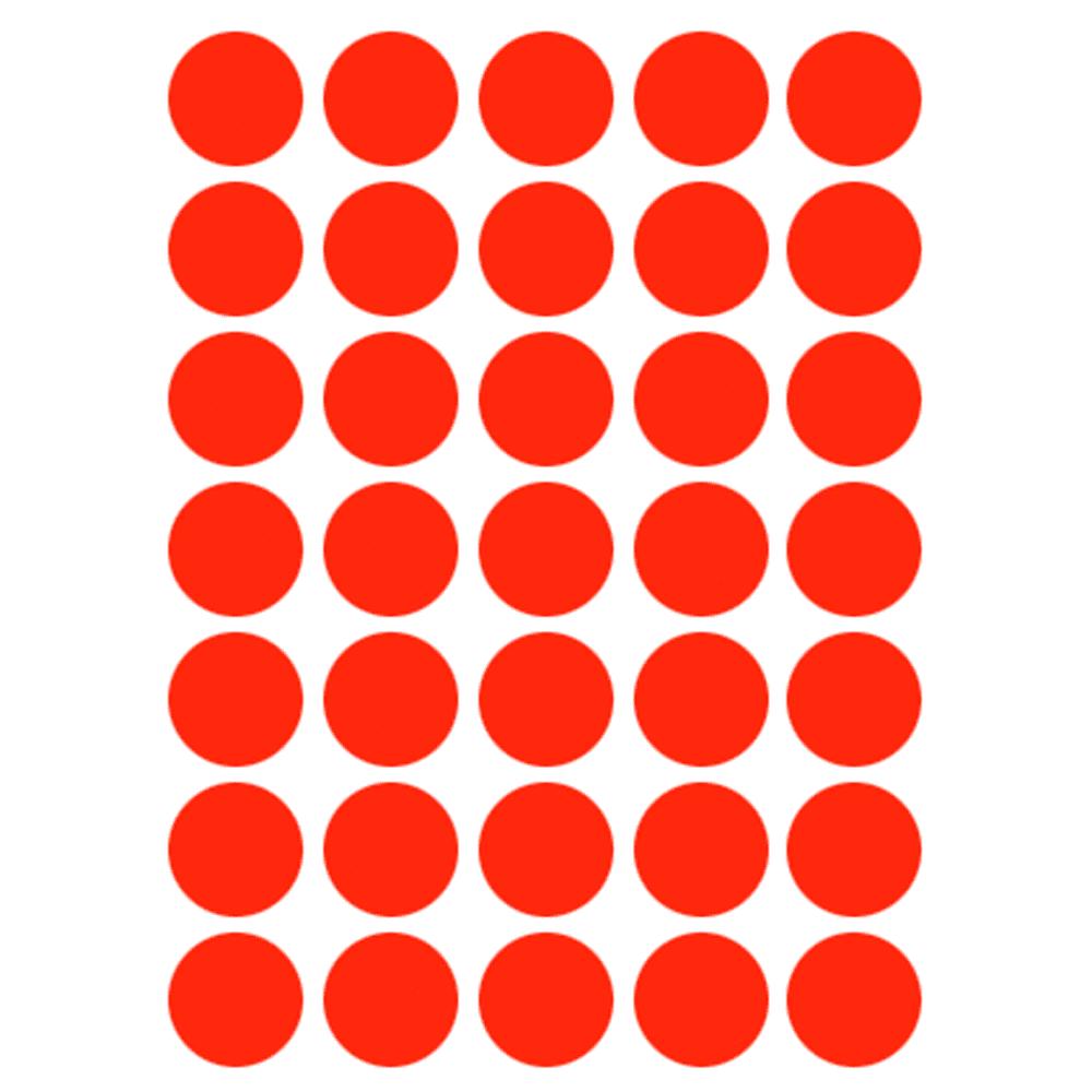 Etiqueta Multiuso Ø 19 mm 5 Folhas Vermelha 6001 Colacril