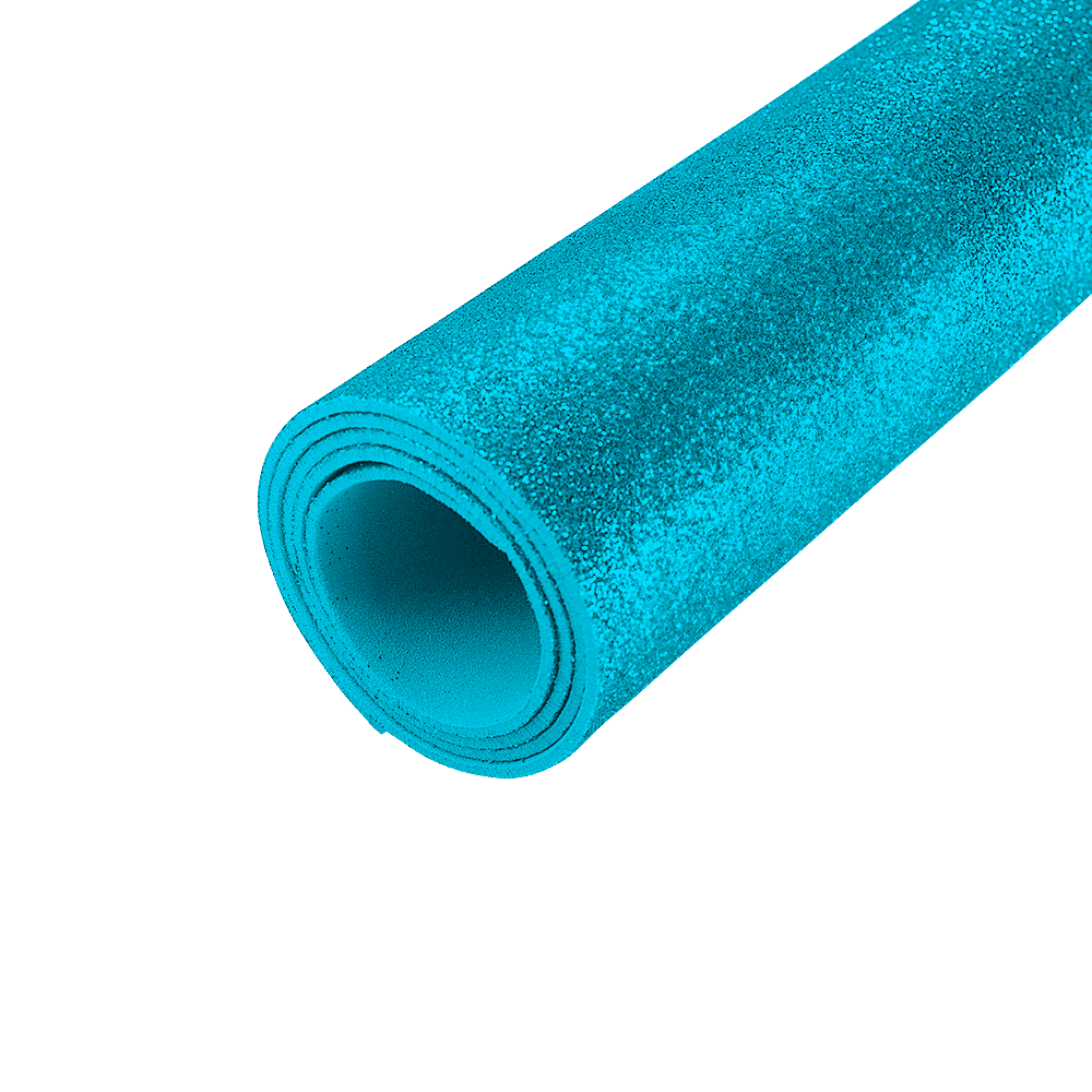 EVA Glitter 400mm x 600mm Azul Ciano 1.5mm BRW