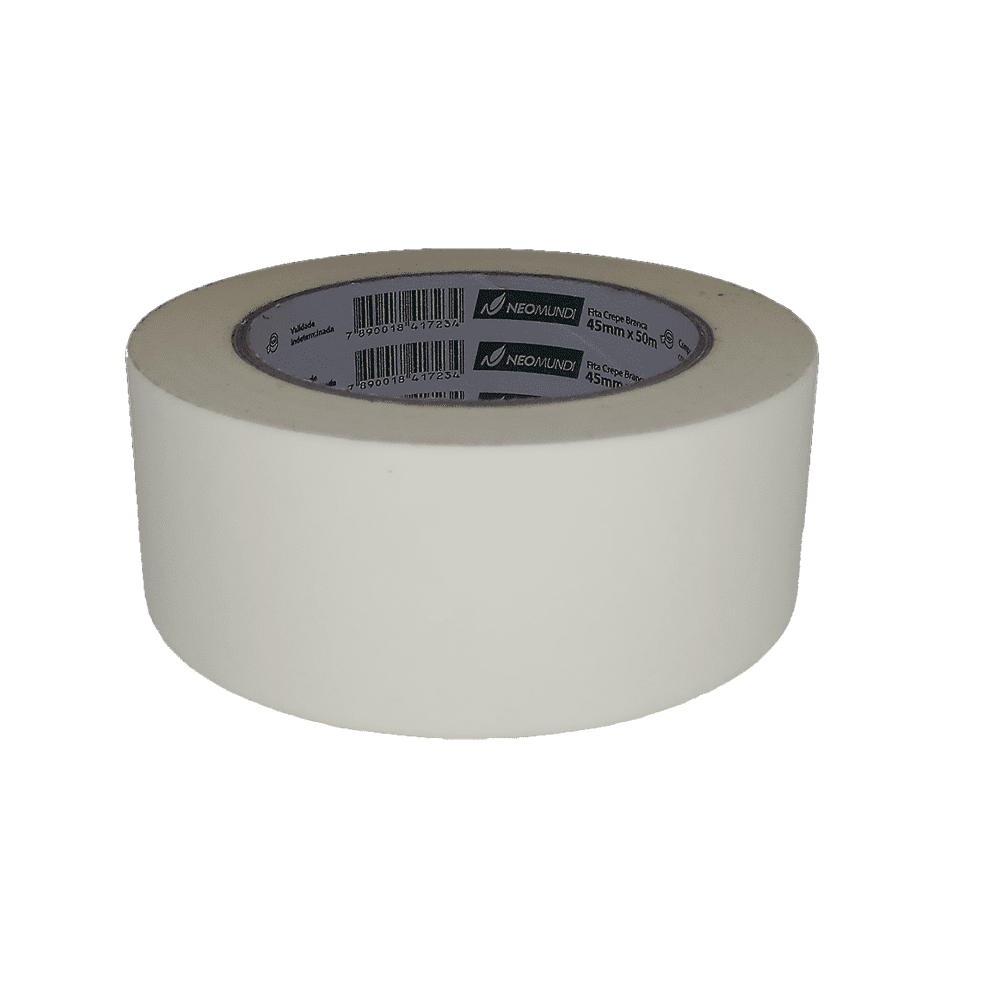 Fita Crepe 45mm x 50m Branco NeoMundi