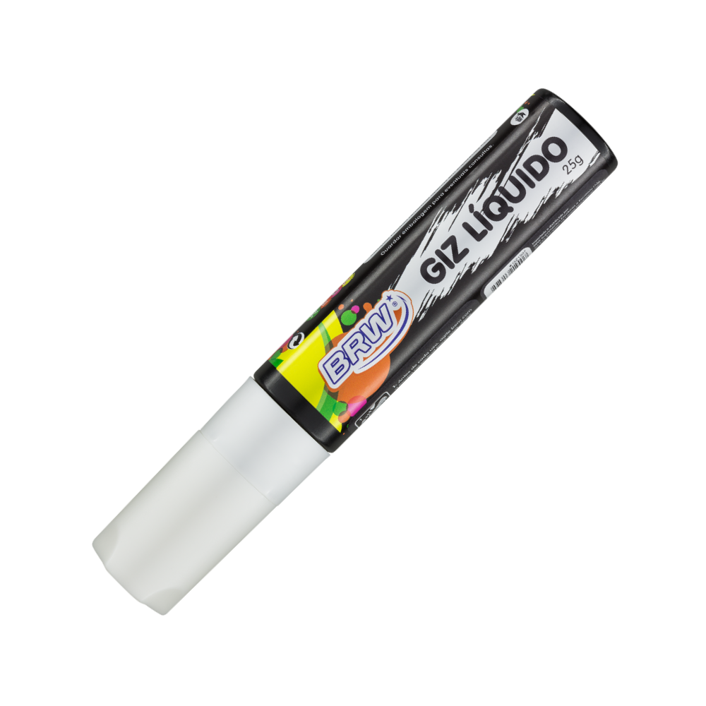 Giz Líquido Branco 25g 8mm BRW