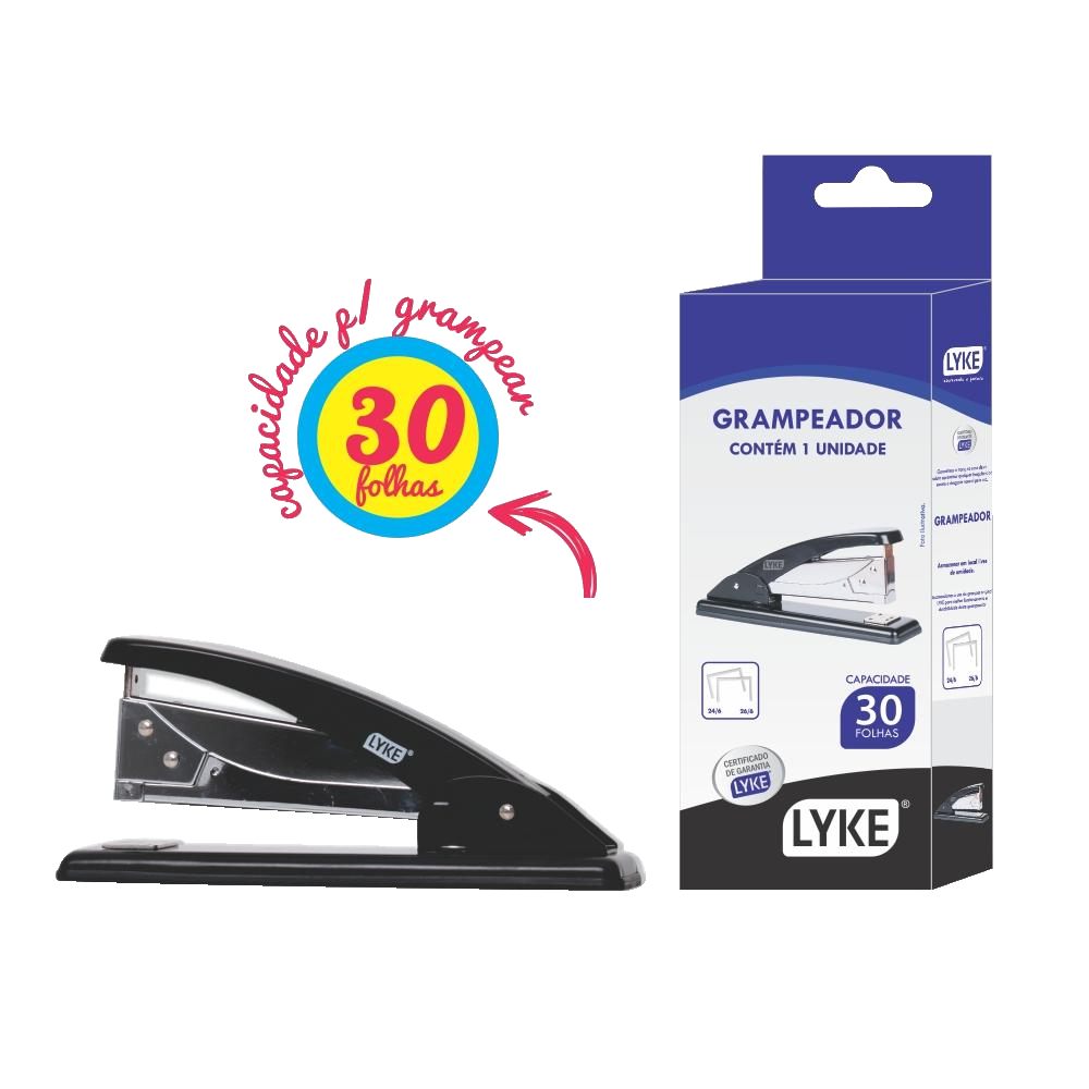 Grampeador para 30 Folhas LO101-292 Lyke