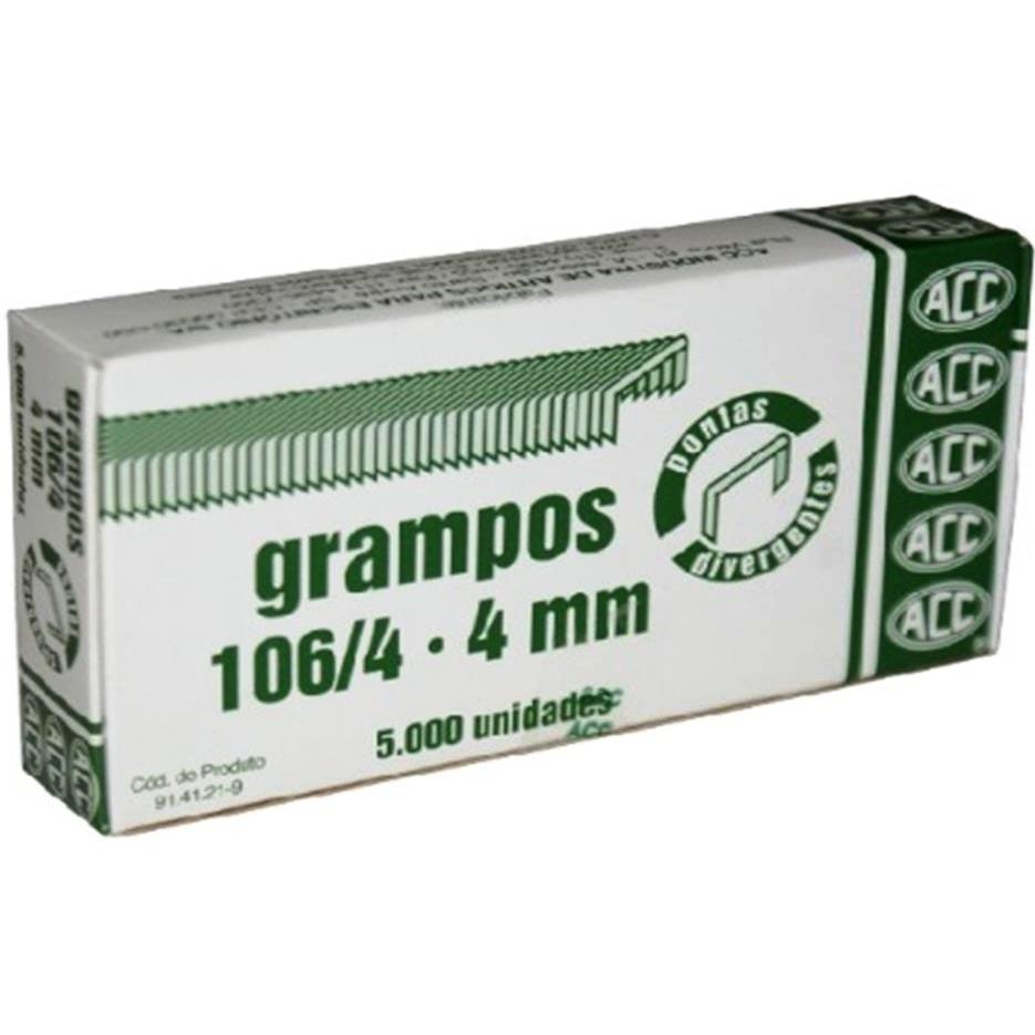 Grampo 106/4 Galvanizado Extra 5Cxs Com 5000 unidades Acc