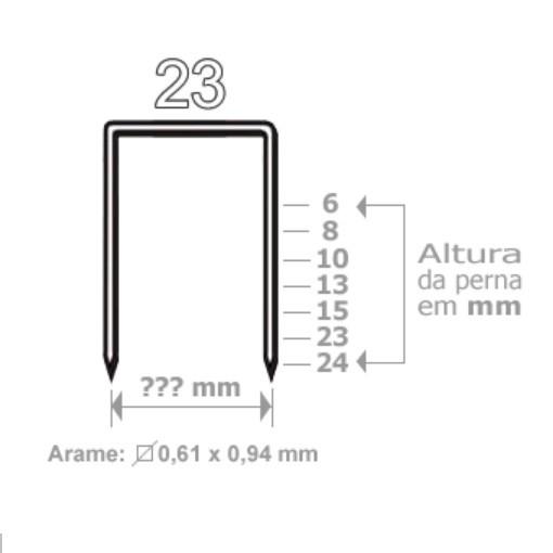 Grampo 23/24 Galvanizado 1000 unidades Acc