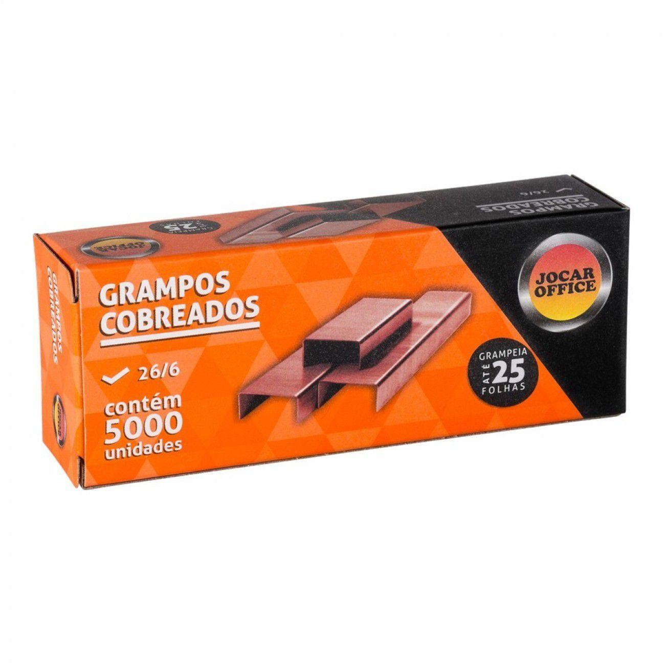 10 Cxs Grampo 26/6 Cobreado com 5000 uni Jocar Office