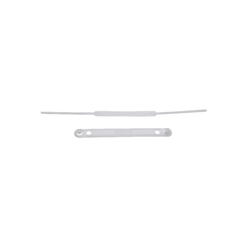 Grampo Trilho Plástico Branco 50 unidades DelloFix