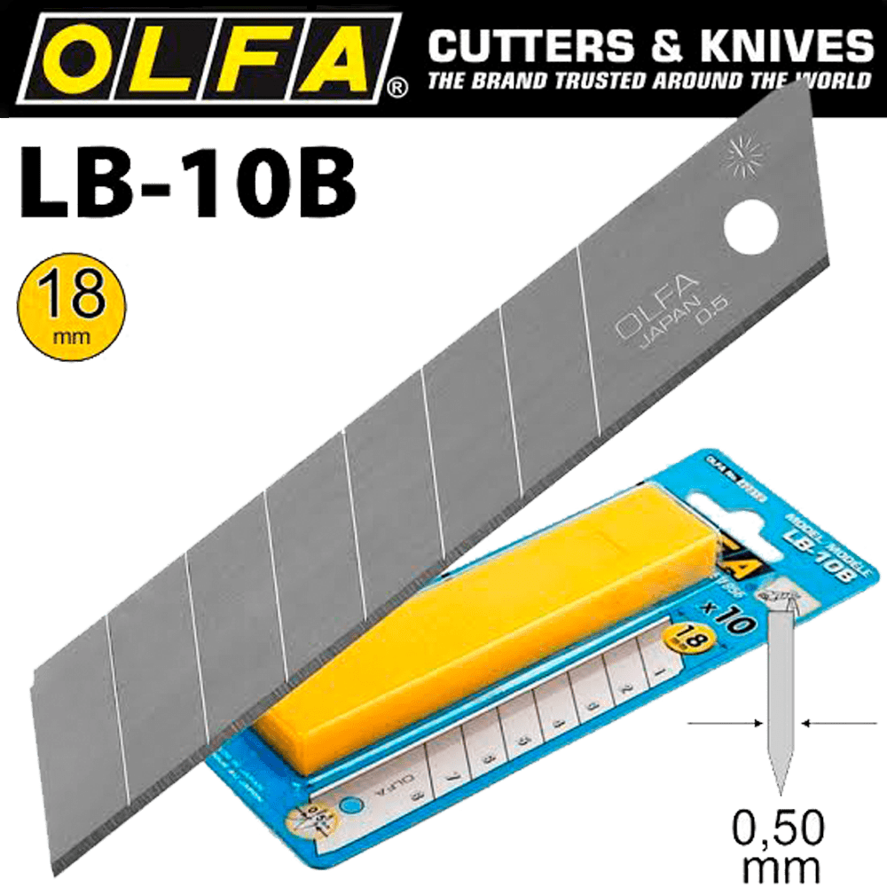 Lâmina para Estilete 18mm LB-10B OLFA