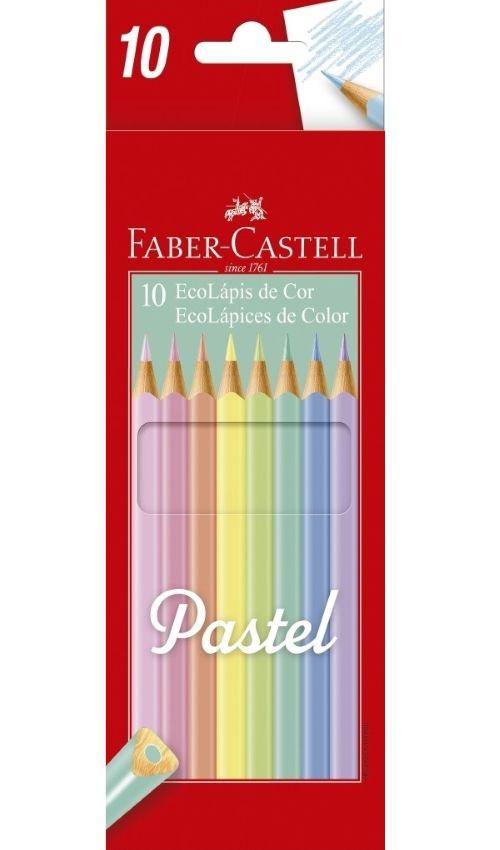 Ecolápis de Cor 10 Cores Tons Pastel Faber Castell