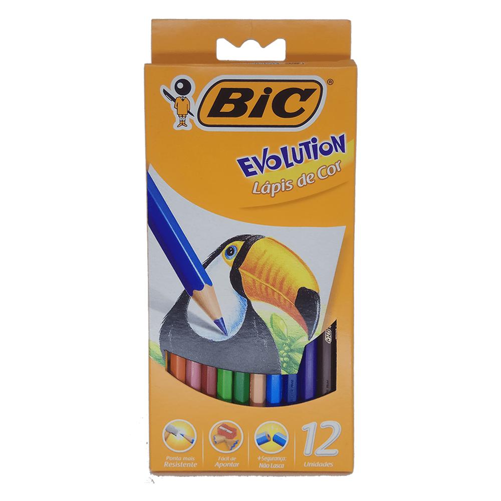 Lápis de Cor 12 cores Evolution Bic