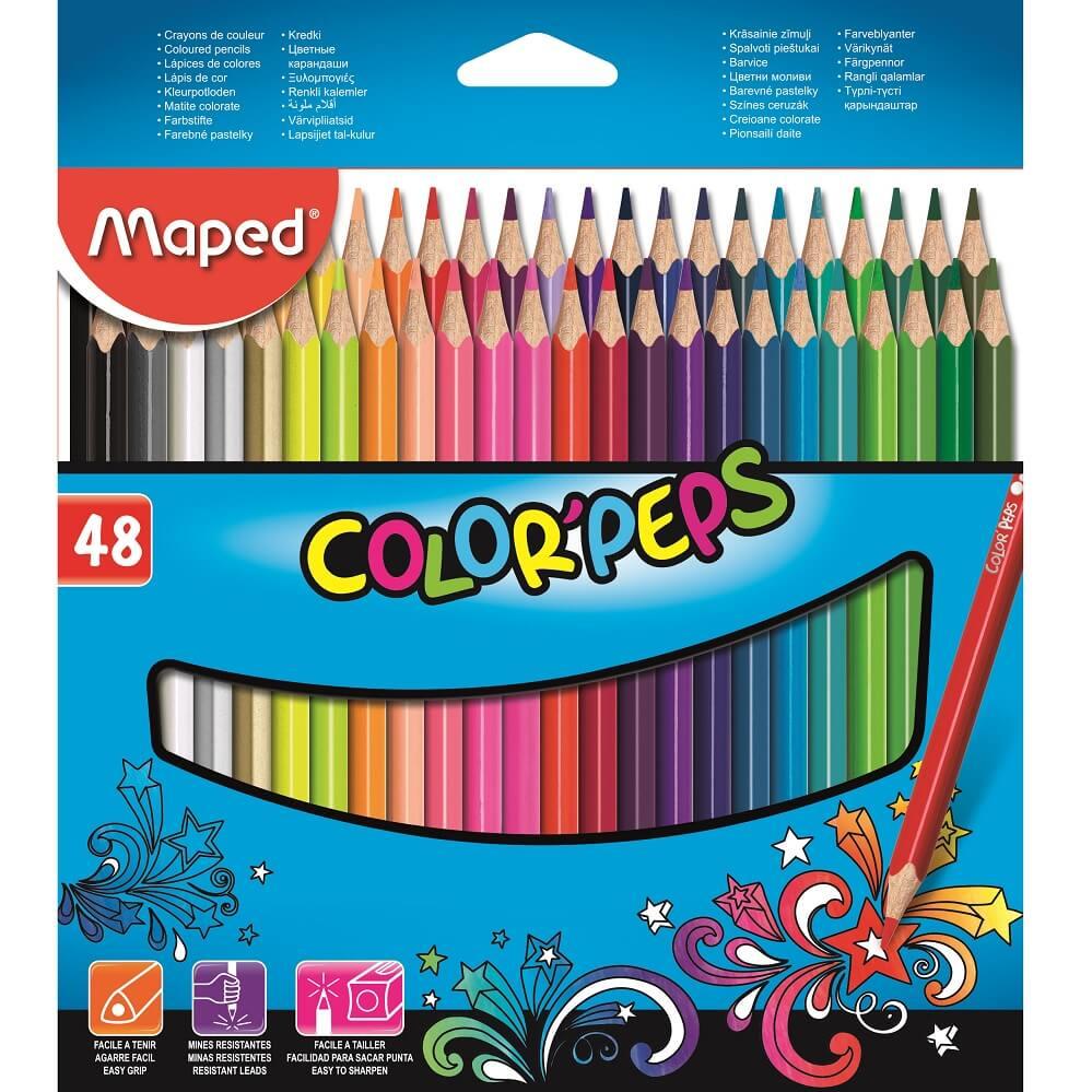 Lápis de Cor Color'Peps Classic 48 Cores Maped