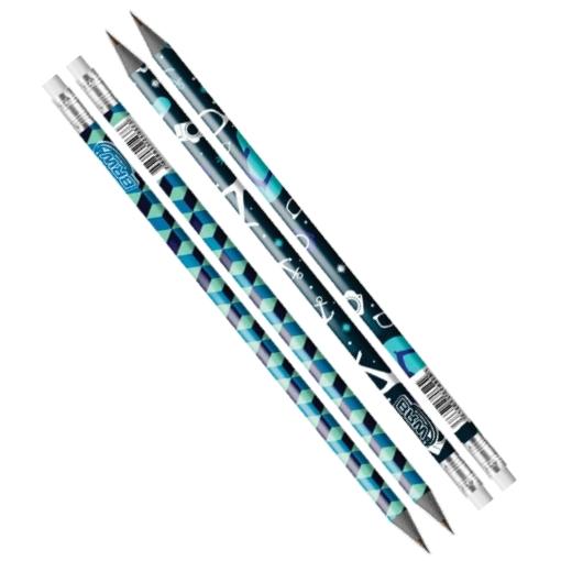 Lápis Estampado HB com Borracha Masculino BRW