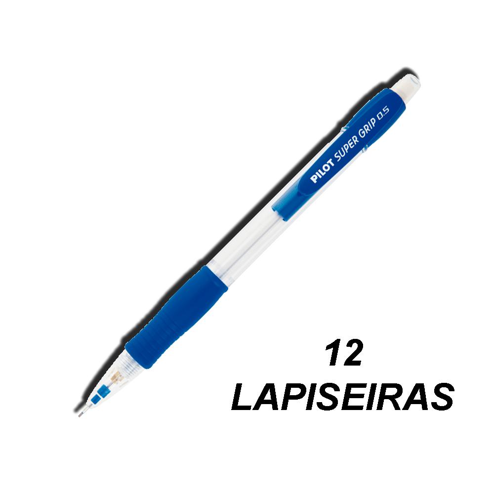 Lapiseira 0,5 mm Super Grip Azul 12 und Pilot