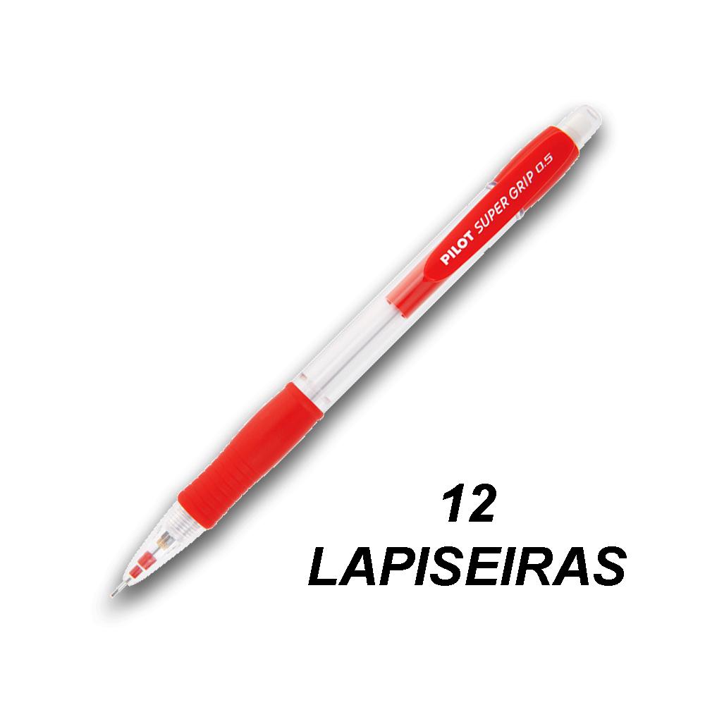 Lapiseira 0,5 mm Super Grip Vermelha 12 und Pilot
