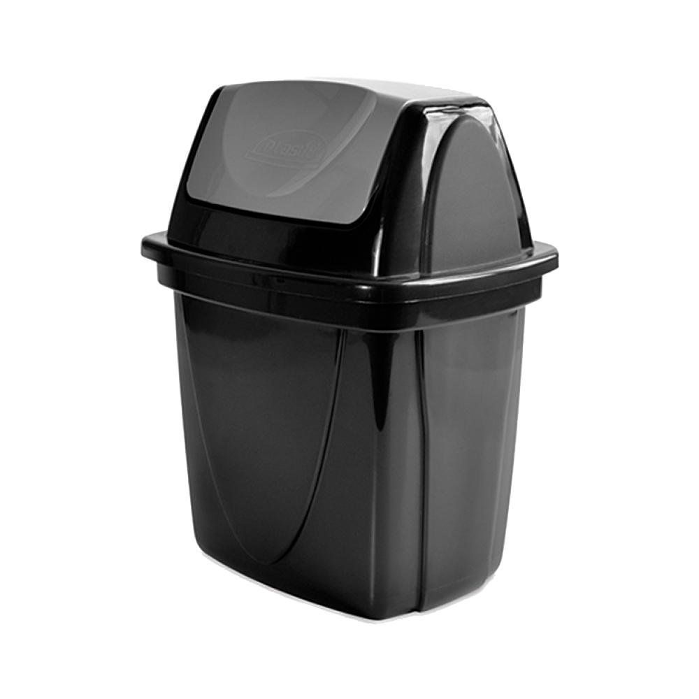 Lixeira Basculante 6,5L Eco Black Preta Plasútil