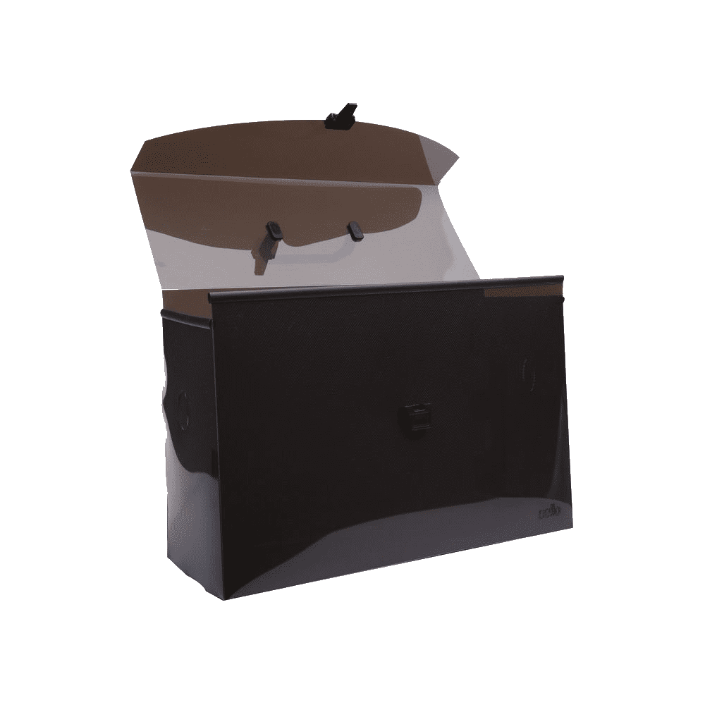 Maleta Arquivo DelloPlast Fumê para Pastas Suspensas Dello