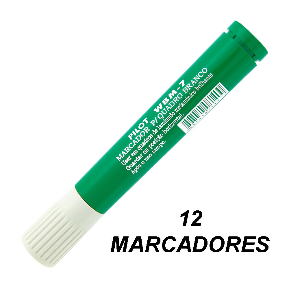 Marcador de Quadro Branco WBM7 Verde 12 und Pilot