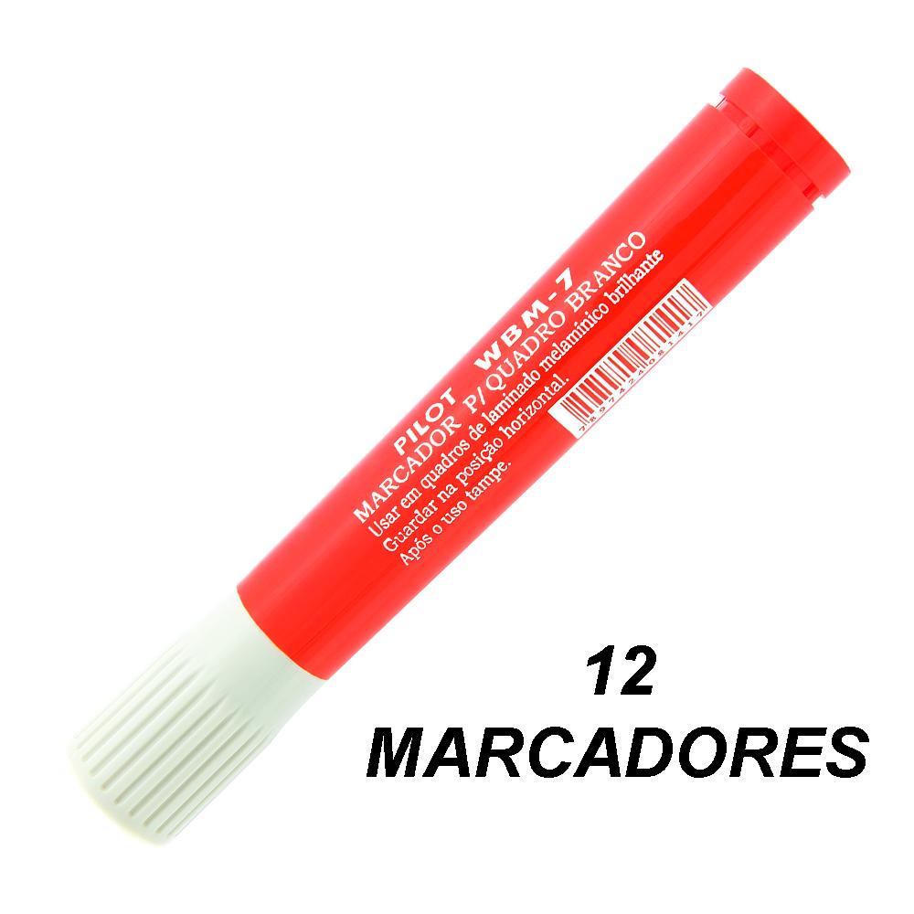 Marcador de Quadro Branco WBM7 Vermelho 12 und Pilot