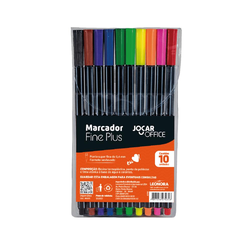 Marcador Fine Plus 10 Cores Jocar Office