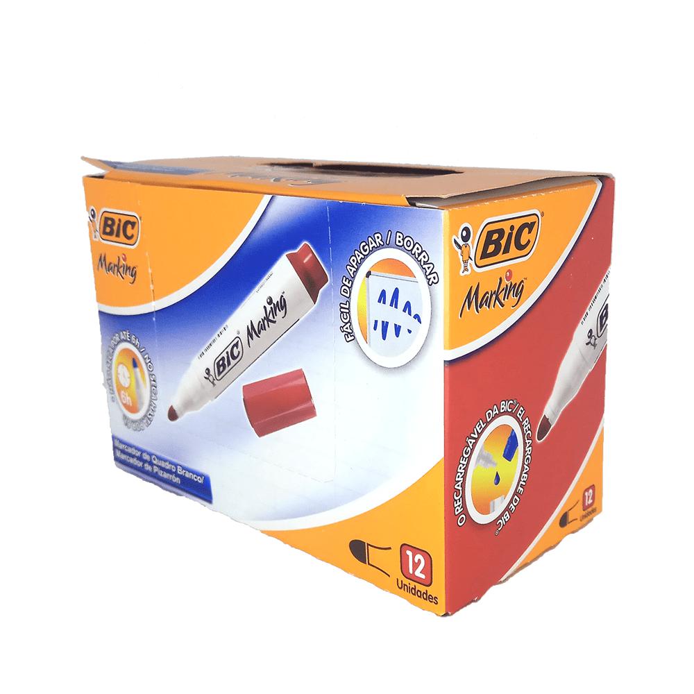 Marcador para Quadro Branco Recarregável Vermelho 12 und Bic Marking