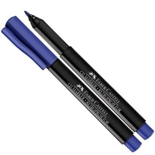 Marcador para Retroprojetor 1.0mm Azul Faber Castell