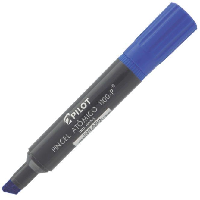 Marcador Permanente Ponta Chanfrada Pincel Atômico 1100-P Azul Pilot