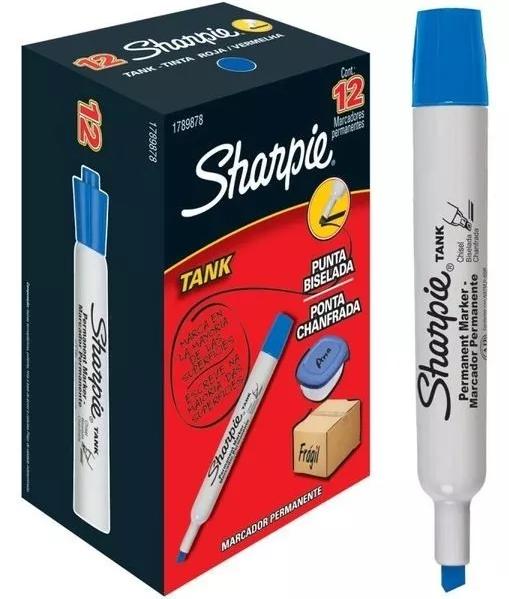 Marcador Permanente Sharpie Tank Azul 12 und