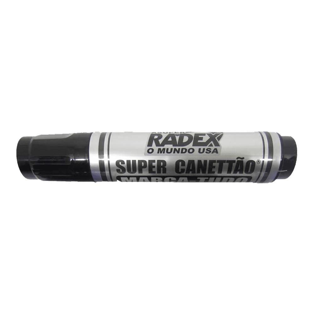 Marcador Permanente Super Canettão Preto Radex