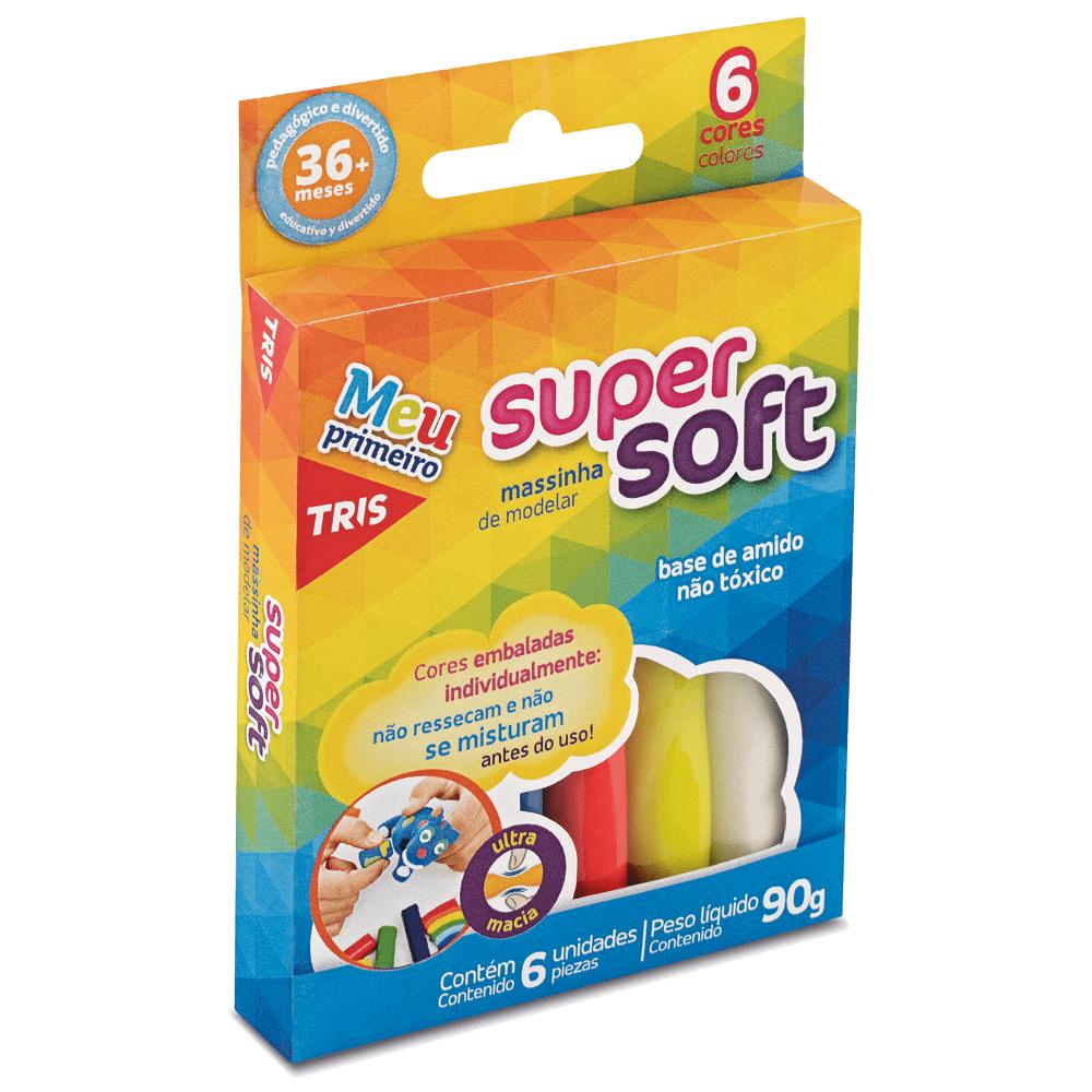 Massa de Modelar Super Soft 90gr 6 Cores Tris