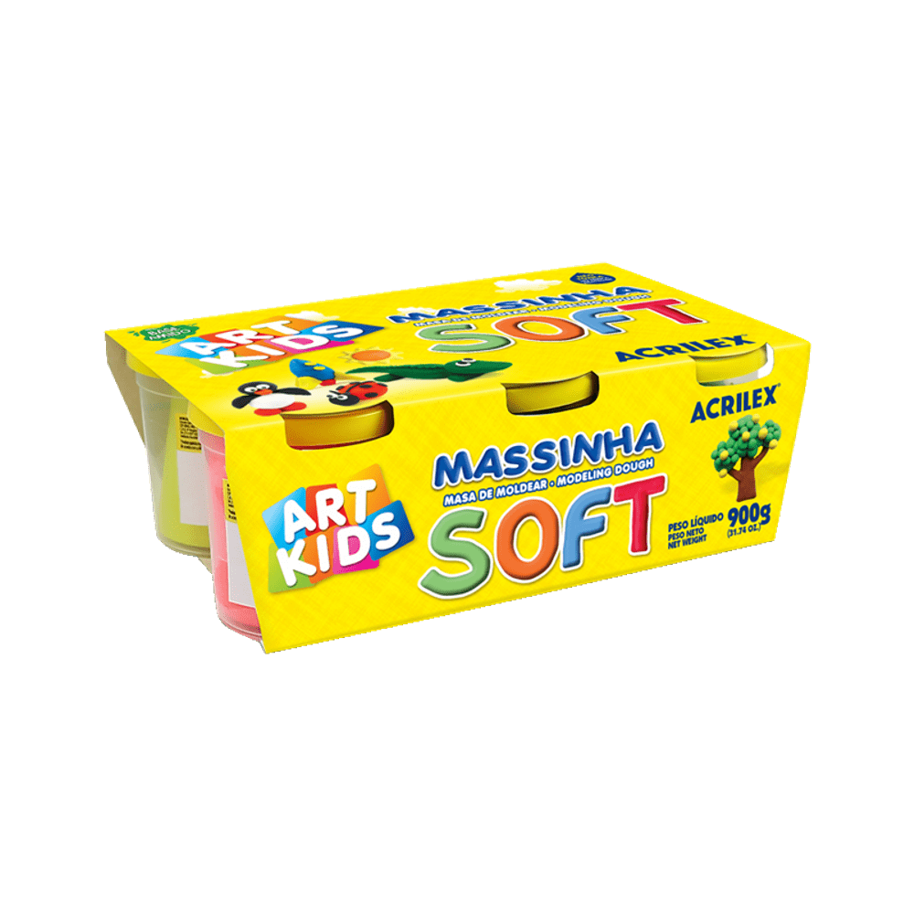 Massinha de Modelar Art Kids Soft 150g 6 Cores Acrilex