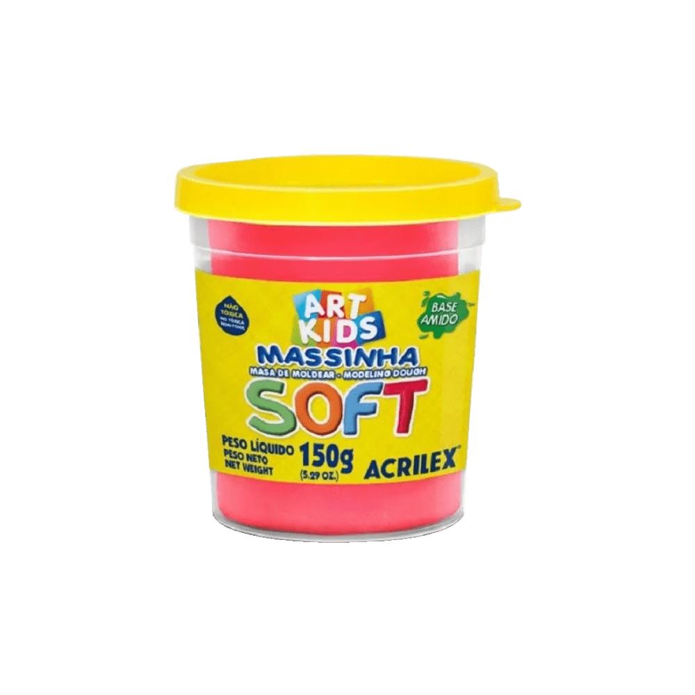 Massinha de Modelar Art Kids Soft 150g Vermelho Acrilex
