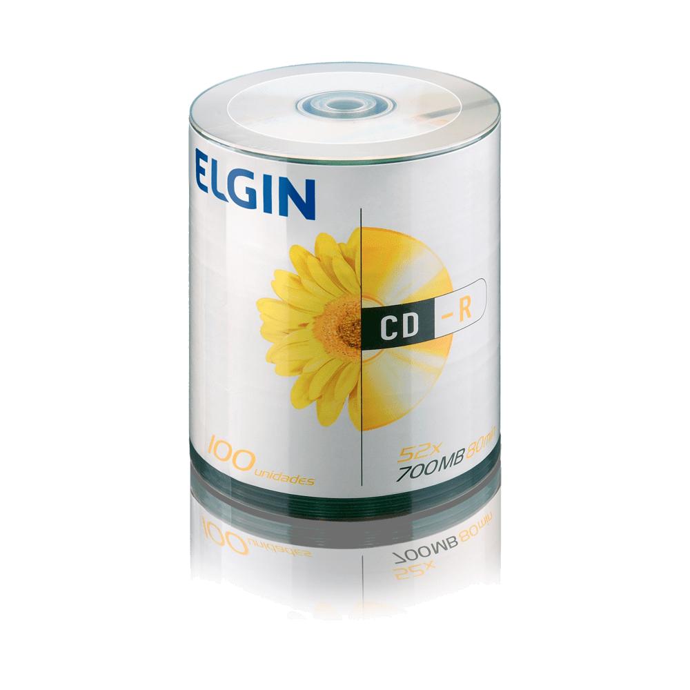 Mídia CD-R 700mb/80 min 52x 100 und Elgin