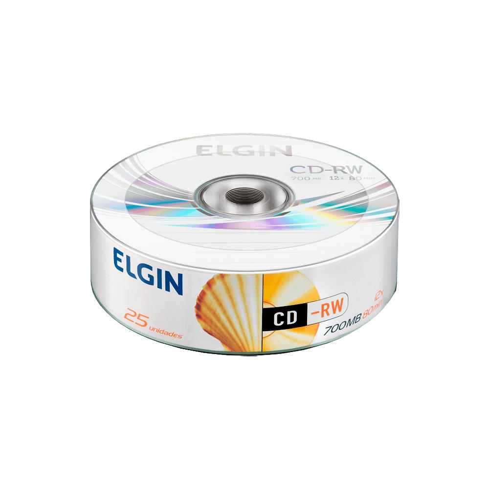 Mídia CD-RW 700 Mb / 80 min 12x 25 und Elgin