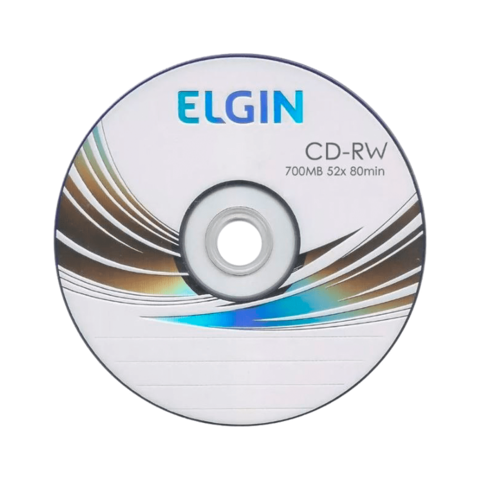 Mídia CD-RW 700mb/80 min 12x Elgin