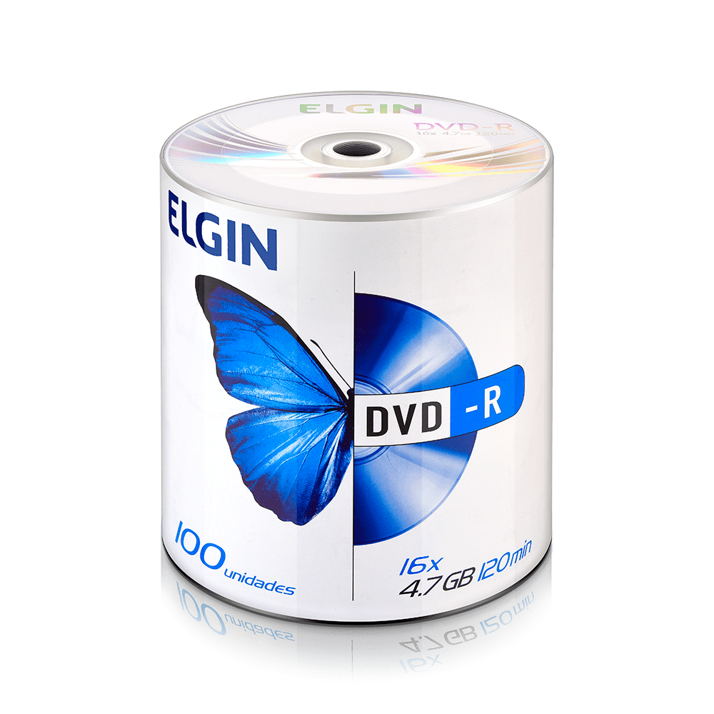 Mídia DVD-R 4.7Gb/120 min 100 und Elgin