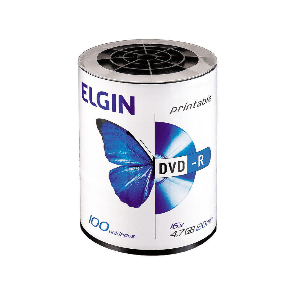 Mídia DVD-R 4,7Gb/120 min 16x 100 und Elgin