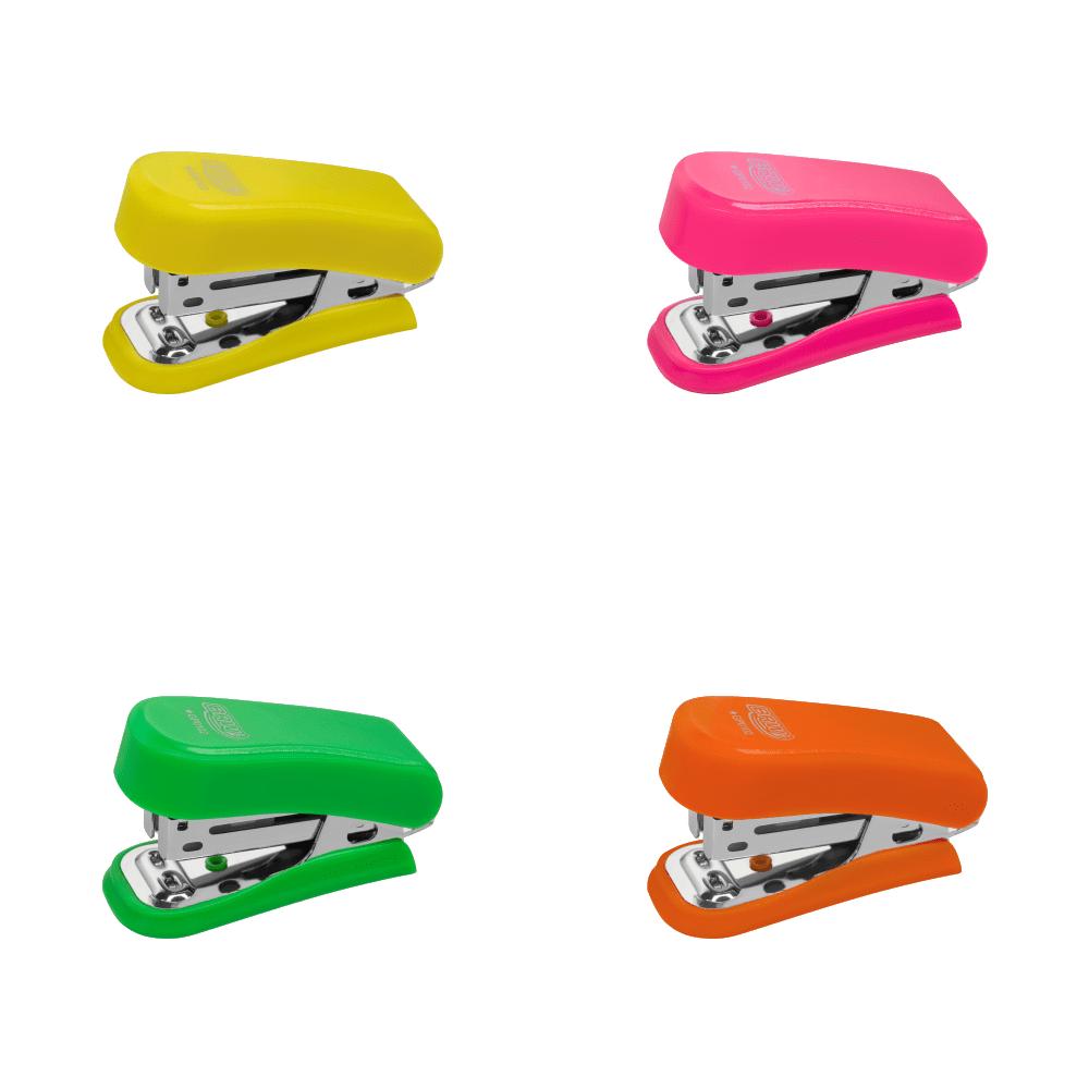 Mini Grampeador Neon 20 Folhas BRW