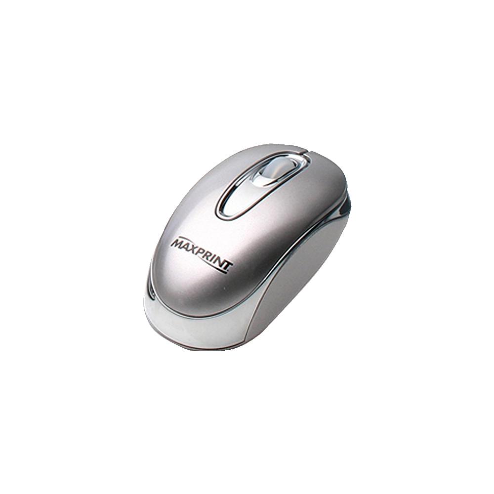 Mouse Ótico USB Prata Maxprint