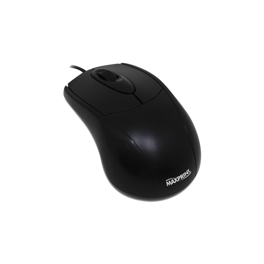 Mouse Ótico USB Preto Maxprint