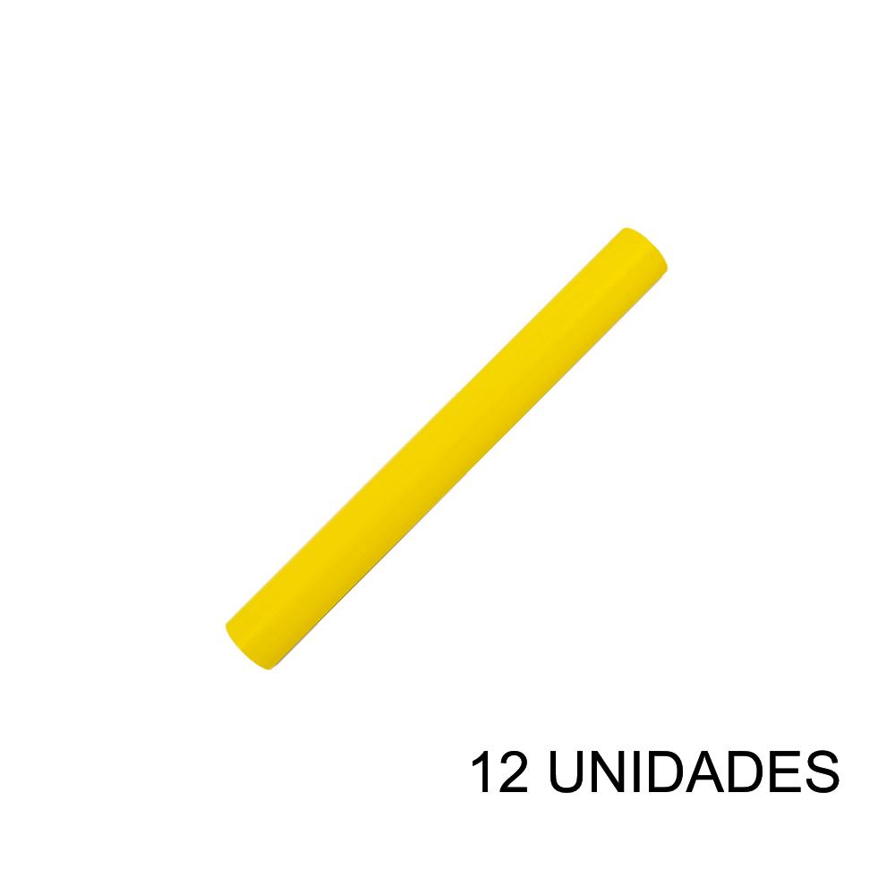 Papel Contact 45cm x 10m Leotack Amarelo 12 Unidades Leo Arte