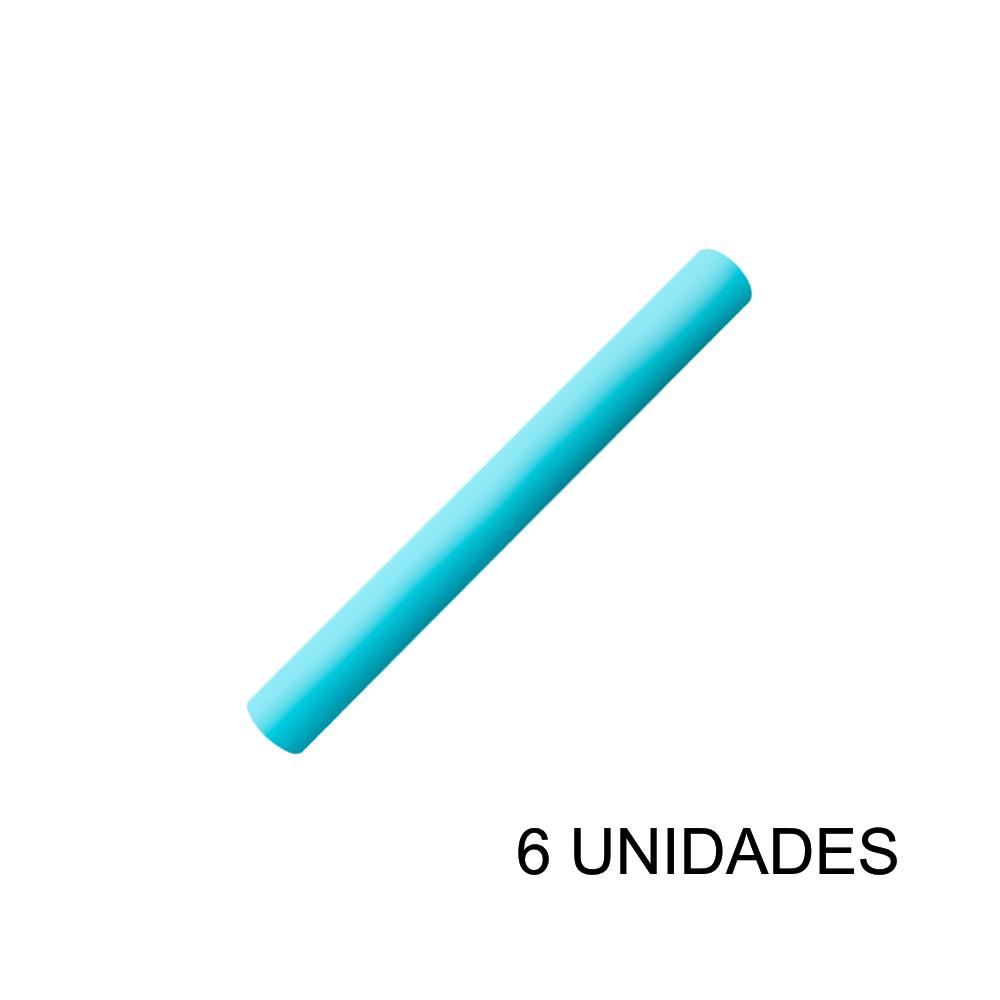 Papel Contact 45cm x 10m Leotack Azul Claro Pastel 6 Unidades Leo Arte