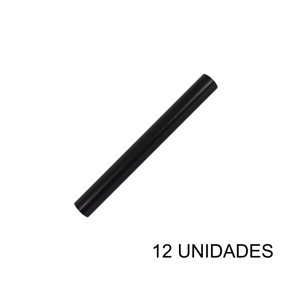 Papel Contact 45cm x 10m Leotack Preto 12 Unidades Leo Arte