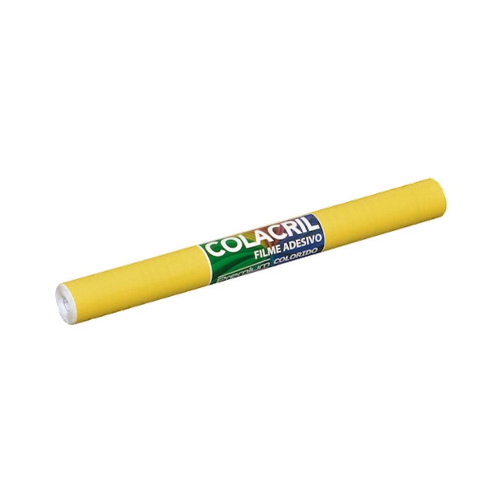 Papel Contact Amarelo 45cm x 10m Colacril