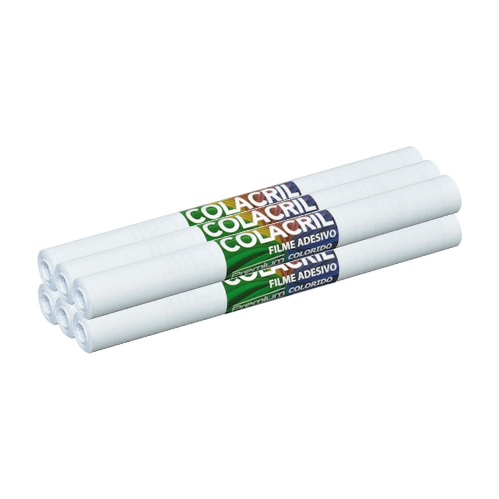 Papel Contact Branco 45cm x 10m Colacril 6 Unidades