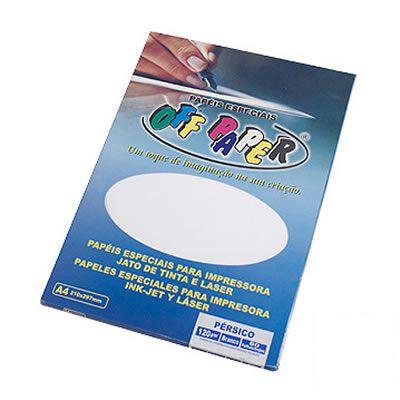 Papel Novo Pérsico A4 Gr 180  C/ 50 fls Off Paper