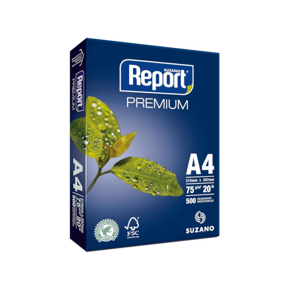 Papel Sulfite A4 Branco 75g 500 Folhas Premium Report