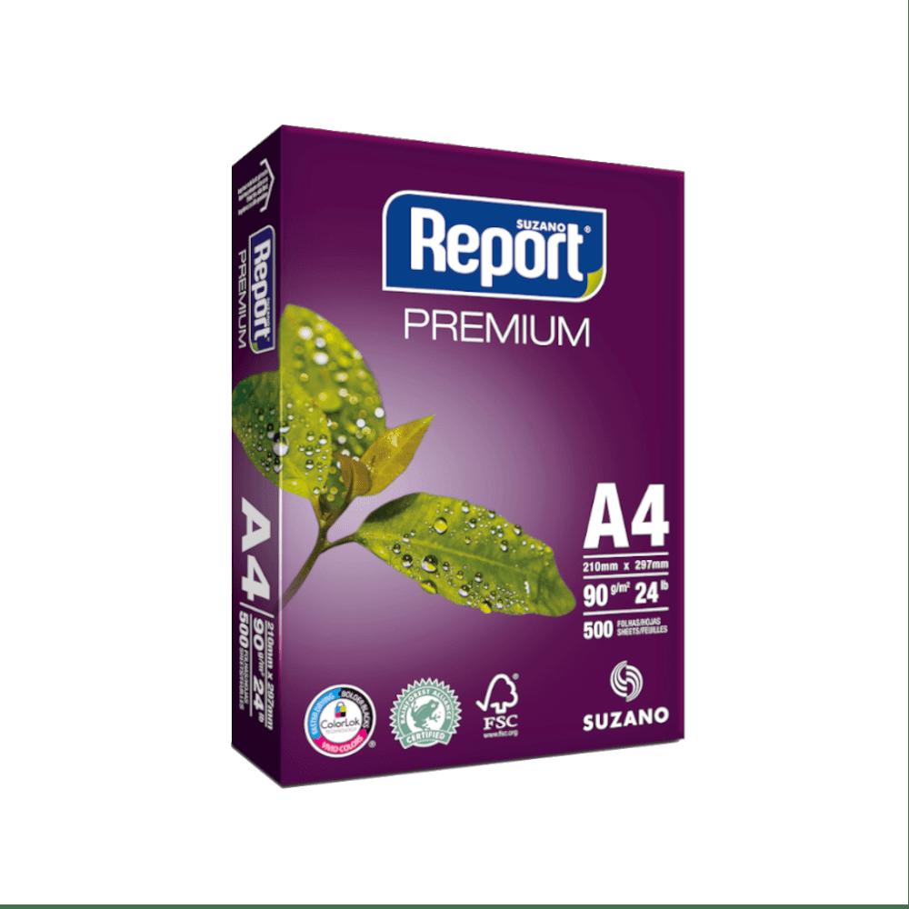 Papel Sulfite A4 Branco 90g 500 folhas Premium Report