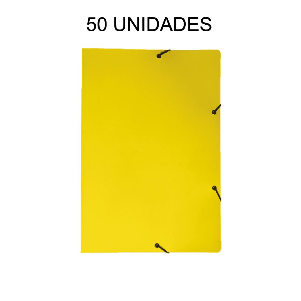 Pasta Aba Elástico Amarelo 50 Unidades DelloPlex