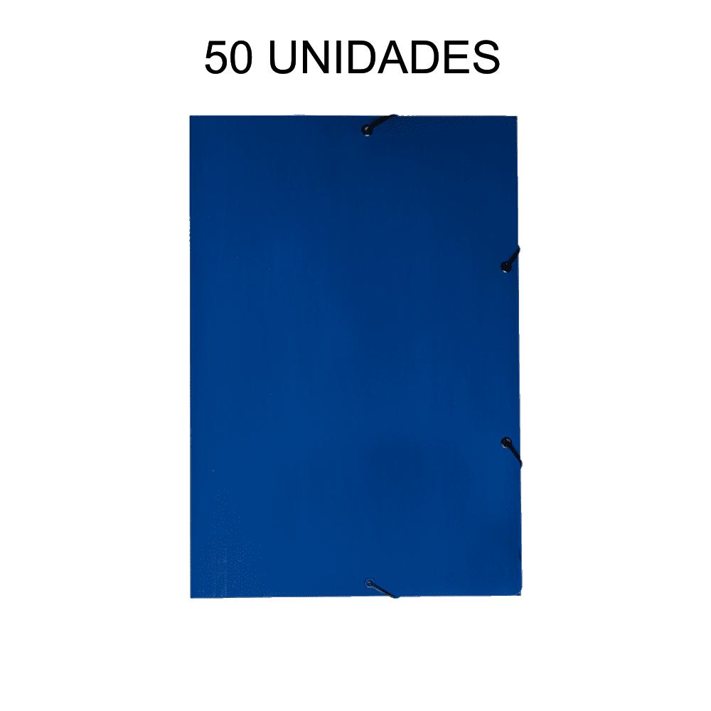 Pasta Aba Elástico Azul 50 Unidades DelloPlex