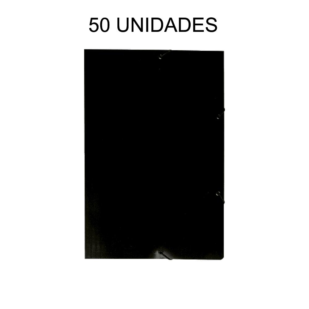 Pasta Aba Elástico Preto 50 Unidades DelloPlex