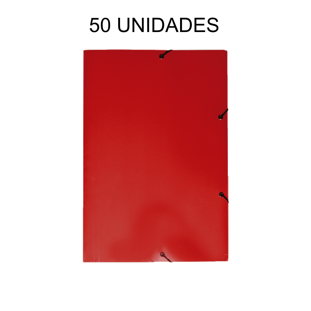 Pasta Aba Elástico Vermelho 50 Unidades DelloPlex