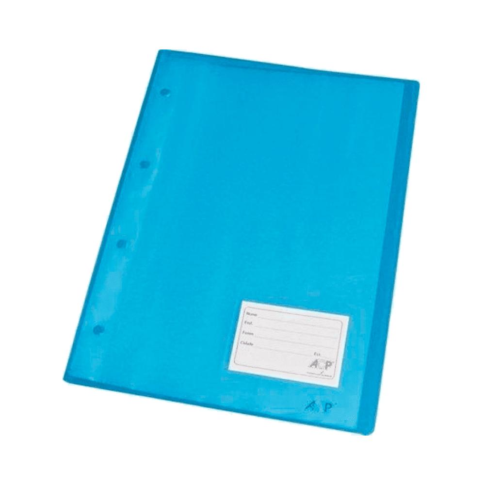 Pasta Catálogo Ofício Com 10 Envelopes 1037 Azul ACP